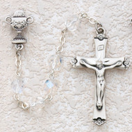 ROSARY CRYSTAL AB STERLING SILVER CHALICE 586LW