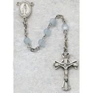 BLUE PEARL STERLING SILVER CHILDREN'S ROSARY 201L-BLG
