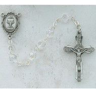 ROSARY CRYSTAL PEWTER COMMUNION C45DW