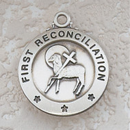 STERLING SILVER RECONCILIATION MEDAL L700RCW