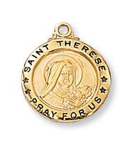 ST. THERESE LITTLE FLOWER MEDAL J700TF
