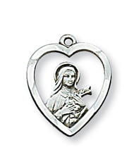 ST. THERESE LITTLE FLOWER MEDAL L426TF