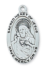 SACRED HEART OF JESUS MEDAL L550SC