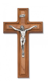 "10"" WALNUT STAINED CRUCIFIX 79-42478"