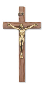 "10"" WALNUT CARVED CRUCIFIX 79-42481"