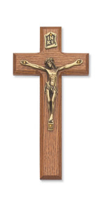 "7"" WALNUT STAINED CRUCIFIX 79-42476"