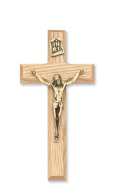 "6"" BEVELED OAK CRUCIFIX 79-73"