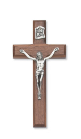 "10"" BEVELED WALNUT CRUCIFIX 79-71"