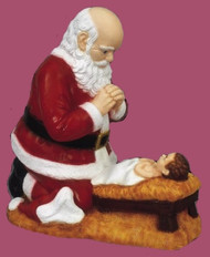 KNEELING SANTA OUTDOOR STATUE 24""