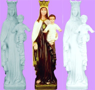 OUR LADY MT. CARMEL OUTDOOR STATUE 24""