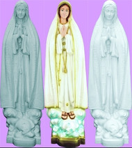 "32"" OUR LADY OF FATIMA OUTDOOR STATUE"