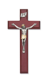 "8"" CHERRY STAINED CRUCIFIX 80-106"