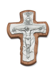 "5 1/2"" STAINED WALNUT TRINITY CRUCIFIX 80-122"