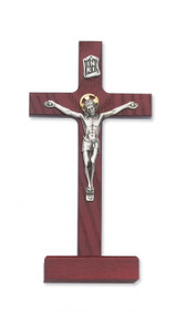 "8"" CHERRY STAINED STANDING CRUCIFIX 80-58"