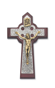 "5-3/4"" CHERRY STAINED CELTIC CRUCIFIX 79-42561"
