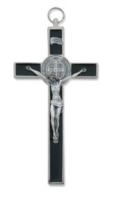 "8"" FINE ITALIAN WITH BLACK EPOXY ST. BENEDICT CRUCIFIX 119-04"
