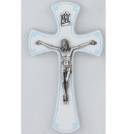"7"" BABY CRUCIFIX WITH BLUE TRIM 79-66"
