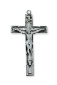 CRUCIFIX PEWTER ANTIQUE SILVER AN6032