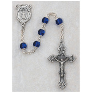 BLUE CAPPED GLASS ROSARY 263 S/F