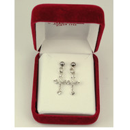 CRUCIFIX EARRINGS 8017