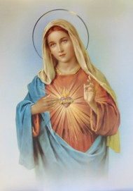 Immaculate Heart of Mary poster size print