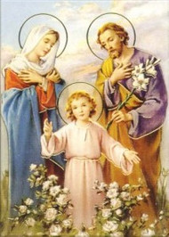 Holy Family poster size print