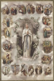 Mysteries of the Rosary poster size print