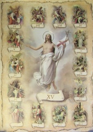 Stations of the Cross poster size print