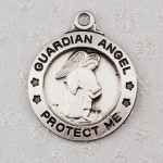 GUARDIAN ANGEL STERLING SILVER MEDAL L700GA