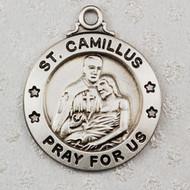 ST. CAMILLUS MEDAL STERLING SILVER L600CM