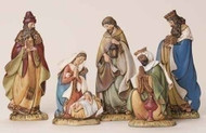 "5 PIECE SET 8-6"" FLAT NATIVITY FIGURES"