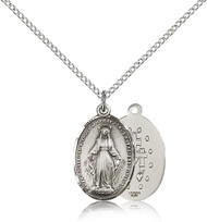 Miraculous Medal Sterling Silver 0015M-bliss