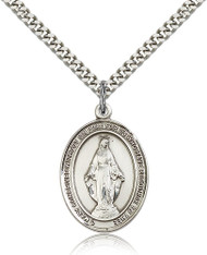 Miraculous Medal Sterling Silver 7078-bliss