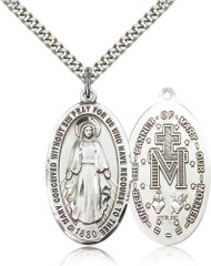 Miraculous Medal Sterling Silver 0453-bliss