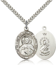 Scapular Medal Sterling Silver 7098-bliss