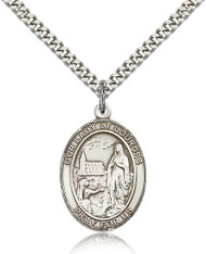 Our Lady of Lourdes Sterling Silver Medal 7288-bliss