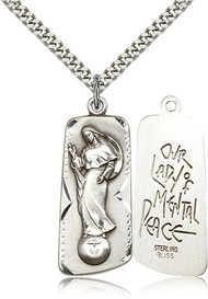 Our Lady of Mental Peace Sterling Silver Medal 4162-bliss