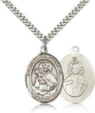Our Lady of Mount Carmel Sterling Silver Medal 7243-bliss
