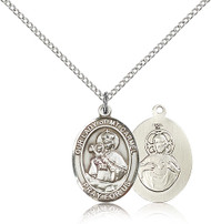 Our Lady of Mount Carmel Sterling Silver Medal 8243-bliss