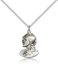 Christ Sterling Silver Medal 4217-bliss