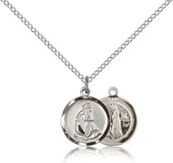 Our Lady of LaSallete Sterling Silver Medal 0601L-bliss