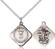 St. Michael Air Force Diamond Sterling Silver Medal
