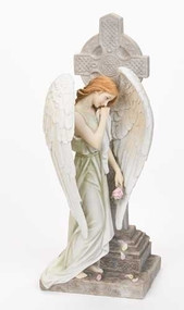 Angel with Celtic Cross Statue