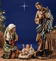 """39"""" 3 PIECE COLORED HOLY FAMILY FIGURES"""