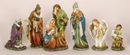 NATIVITY WITH ANGEL & SHEPHERD - 6 PIECE