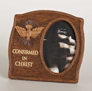 CARVED WOOD LOOK CONFIRMATION FRAME (4X6 PHOTO)