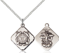 St. Michael Coast Guard Diamond Sterling Silver Medal