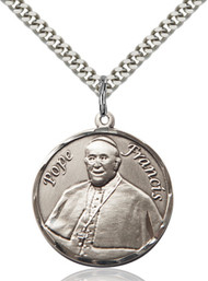 Pope Francis Sterling Silver Round Medal 7451RD-bliss