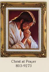 Christ at Prayer Framed Print