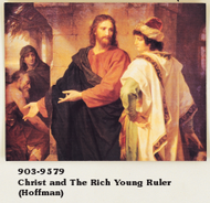 Christ & The Rich Young Ruler Framed Picture (Hoffman)